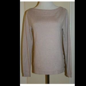 Ann Taylor Loft Womens Sweater Pink Long Sleeve S